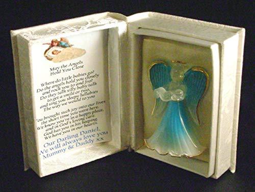 Baby Boy Personalisierte Gedicht-Schutzengel Andenken Box