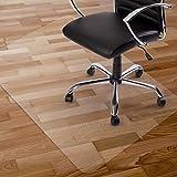 チェアマット 120 x 76cm スクエア型 床保護マットKuyal 透明 PVC厚み2mm フロアマットPVC滑り止めフローリング引っかき傷防止マット(120 x 76cm スクエア型)