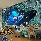 Papel tapiz fotográfico 3D personalizado papel pintado de pared del mundo submarino papel de pared para sala de estar dormitorio decoración de Mural para habitación de niños