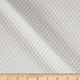 TELIO Mini Quilted Knit Diamond Ecru Fabric by The Yard