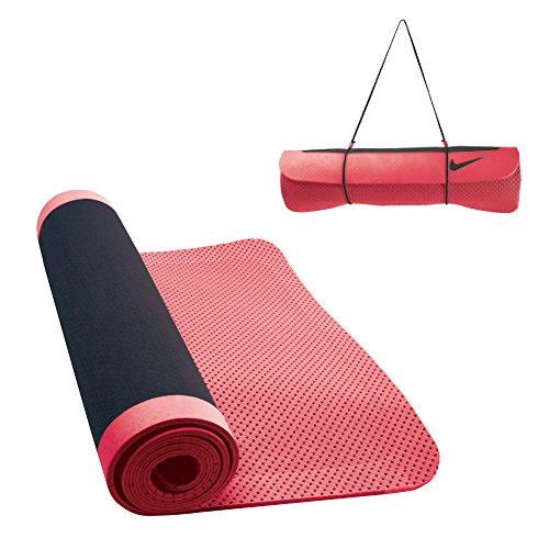 Nike Ultimate–Esterilla de Yoga 5mm–Talla única, Antracita/Rojo