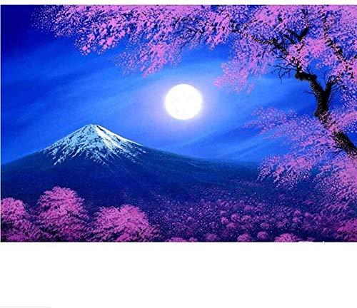 XiuTaiLtd Rompecabezas De 1000 Piezas, Azul Cielo Nocturno, Cordillera, Luna, Rompecabezas Clásico, Kit De Bricolaje, Juguete De Madera, Decoración del Hogar
