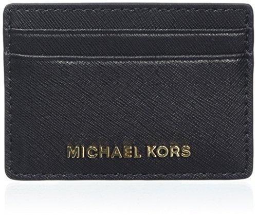 Michael Kors Money Pieces, Tarjetero para Mujer, Negro (Black), 1.5x7x10 centimeters (W x H x L)