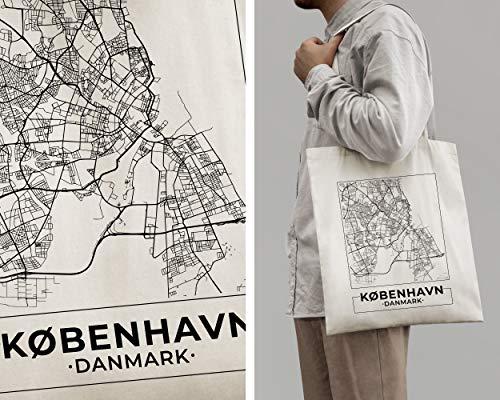 Copenhagen, Denmark, Carte de la ville Sac Cabas en...