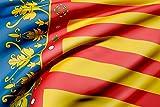 Oedim Bandera de La Comunidad Valenciana 85x150cm | Reforzada y con Pespuntes| Bandera de La Comunidad Valenciana con 2 Ojales Metálicos