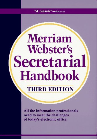 Compare Textbook Prices for Merriam-Webster's Secretarial Handbook Third Edition 3 Edition ISBN 9780877792369 by Merriam-Webster