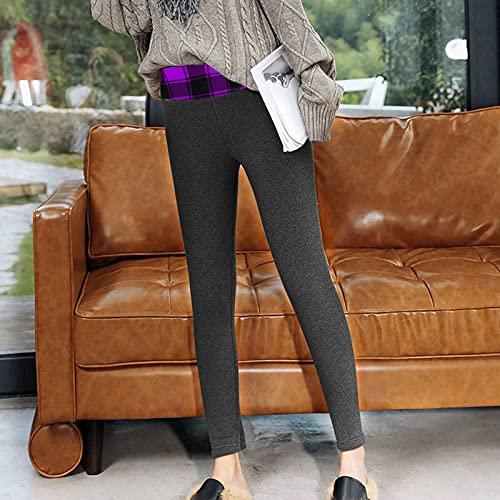 Alueeu Leggings Térmicos Pantalones Mujer Invierno pantalon Deporte Felpa Pantalones Cintura Alta Push up Mallas Pants Talla Grande