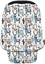 COEQINE Baby Car Seat Cover Llama Pattern Nursing Covers Soft Breathable Stretchy Breastfeeding Scarf