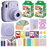 Fujifilm Instax Mini 11 Instant Camera Lilac Purple Compatible Carrying Case + Fuji...