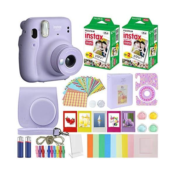 Fujifilm Instax Mini 11 Instant Camera Lilac Purple + Carrying Case + Fuji Instax...