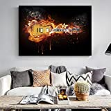 XCSMWJA Cuadro sobre Lienzo Guitarra Eléctrica Óleo Pintura Impresión En Lienzo Abstracto Pared Pared Arte Lienzo Imprime Imagen Moderna para La Decoración De La Sala De Estar 30x40cm