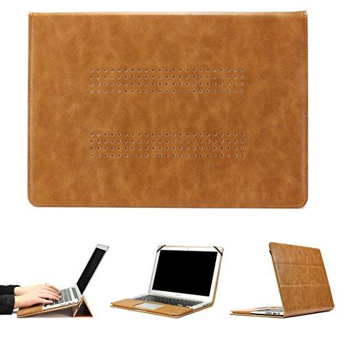 Urcover® Jison Mac-Book Tasche 11 Zoll kompatibel mit MacBook Pro Retina Etui Schutz Hülle Tasche Aktentasche Case Cover Sleeve Braun