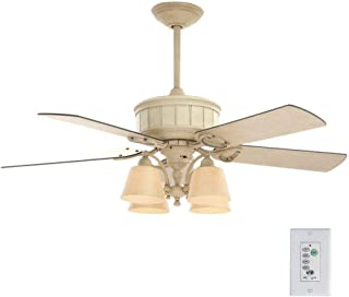 Hampton Bay Torrington 52 Inch Indoor Cottage Wood Ceiling Fan with Light Kit and Remote Control
