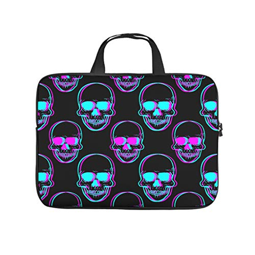 Laptop Skull Blue Laptop Sleeves Protective - Computer Carrying Case for 10/12/13/15/17 inch White 32x24x1.5cm