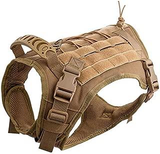 Hanshengday Tactical Dog Vest-Training Molle Harness-Tactical Dog Backpack-Pet Tactical -Vest Detachable Pouches-Relective Patches…
