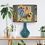 Farm Rooster Country Lamp Shades, Sunflower Lamp shade Cover, LampShade for Floor Lamp/Desk Lamp/Table Lamp, Country Rooster 5, 11.81 R x 8.26 H inches