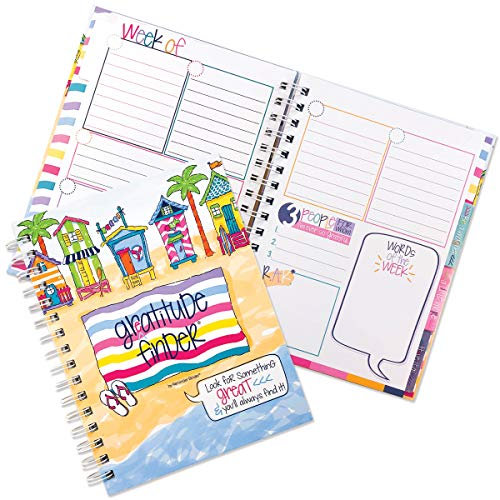 Gratitude Journal 52 Week Daily Positive Thinking for Women & Girls with Stickers Self-Help Happiness | Gratitude Finder
