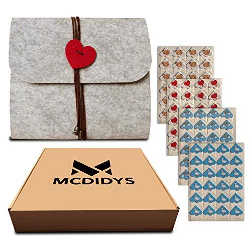 MCDIDYS | Album de Fotos para Pegar | Album Scrapbook Personalizado | Album de Fotos Romántico | Fieltro Gris DIY | 40 Paginas Negras | 24.7 x 23.6 cm | Regalo Original | Bebé | Boda | Comunión