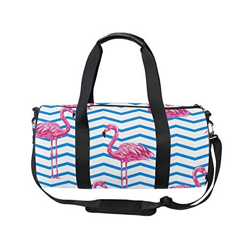 TropicalLife iRoad - Mochila deportiva para gimnasio, bolsa de viaje, diseño de rayas flamencos, ligera, con correa para el hombro, bolsa de gimnasio para hombres y mujeres