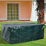 RICHIE Gartentischabdeckung Outdoor Tischabdeckungen Wasserdicht für Gartenmöbel 170x95x70cm Rattan Möbelabdeckungen Atmungsaktiv Polyethylen für Tisch und Stuhl