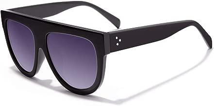 Nero Brillante con Montatura Nera Grigia P-WEIAN Occhiali da Sole da Uomo squisita Retro squadrati da Uomo e da Donna Versatili