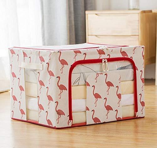 BBGSFDC Caja de almacenamiento de tela Oxford impermeable de 4 tamaños, plegable, de gran capacidad, organizador de ropa, respetuoso con el medio ambiente, C10, 24L (color: C12, tamaño: 66L)