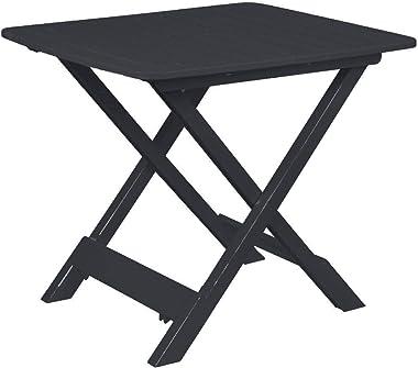 Spetebo Table pliante Tevere - Anthracite - 80 x 72 x 70 cm - Idéale comme table d'appoint.