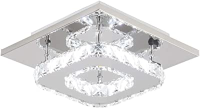 Ceiling Lights & Fans Objective Luxury Fashion Creative Crystal Ceiling Light Rectangular Simple Led Lamps For Bar Home Lighting Corridor Modern Ceiling Lights