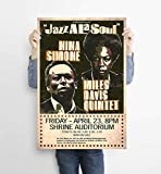 LKY Nina Simone Poster, Nina Simone Jazz Kunst,