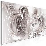 murando Cuadro Acústico Abstracto 120x40 cm Impresión 1 Pieza Artística Lienzo de Tejido no Tejido Decoración de Pared Aislamiento Absorción de Sonidos Diamante Beige Plata a-A-0754-b-a