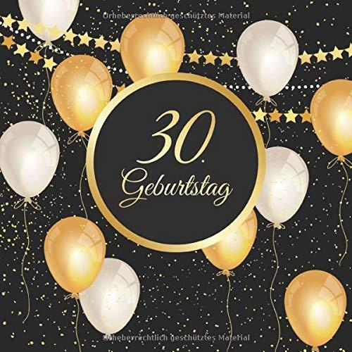 30 Geburtstag Vintage Gästebuch Zum Ausfüllen 30 Jahre Geschenkidee Zum Eintragen Von Glückwünschen Für Das Geburtstagskind Tolles Geschenk Für