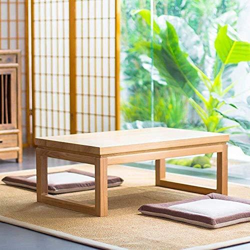 HLZY Mesa Baja Mesa Baja Zen Tabla del Escritorio del Ordenador for Tatami Altura, Moderno Mesa de café Mesa de café Japonesa Zen Tabla de té de Madera sólida Mesa Baja Regalos para Amigos