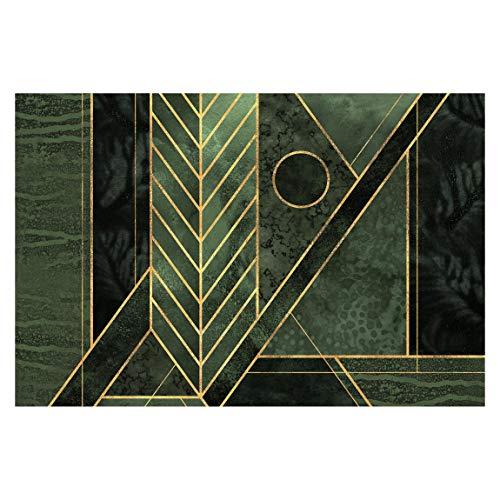 Bilderwelten Fototapete - Geometrische Formen Smaragd Gold - Vliestapete Breit 255 x 384cm