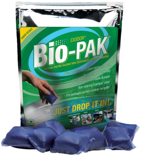 Bio-Pak Natural Holding Tank Deodorizer and Waste Digester, (Pack of 50)