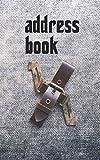 Address Book: Belts & Jeans Motif Monogram Letter X: 24 (manly)