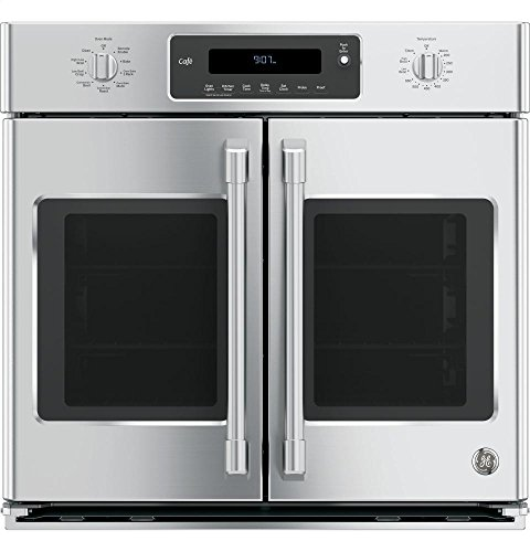 GE Cafe CT9070SHSS 30' Single French Door Electric Wall Oven...