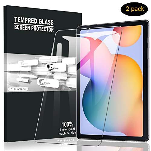 A-VIDET Panzerglas für Samsung Galaxy Tab S6 Lite(Modell 2020, 10.4 Zoll), 9H Härte Schutzfolie Anti-Kratzer/Bläschen/Fingerabdruck/Staub Displayfolie Panzerglasfolie für Galaxy Tab S6 Lite (2 Stück)