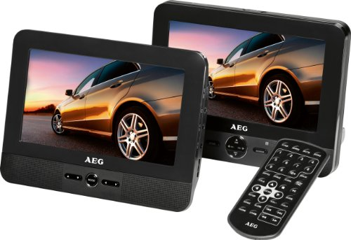 AEG DVD 4551 LCD Tragbarer DVD-Player (17,8 cm (7 Zoll) Display, DVD+RW, SD-Kartenslot) schwarz