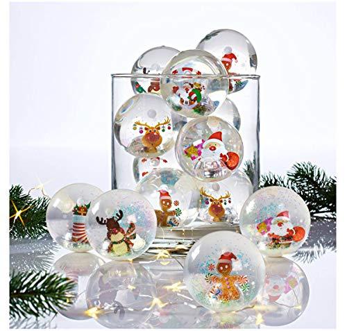 Pureday Weihnachten Flummi mit Licht Merry Christmas 12er Set