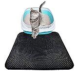 Roblue Tapis de Litière pour Chat Propre et Hygiénique Tapis Imperméable à l'eau pour Chats en EVA XS-XL