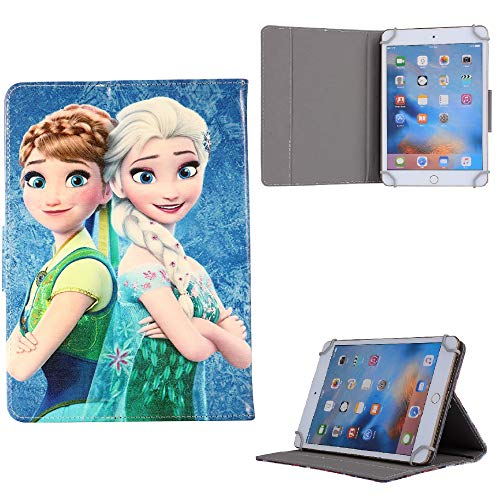 Frozen All Character Kids Tablet Cover ~ For Universal 7' 8' 9.7' 10' 10.1' Inch Case 7' 8' 9.7' 10' 10.1' (Universal 9.7' (9.7' Inch), Elsa Anna Classic Dresses)