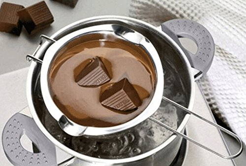 Stainless Steel Double Boiler Pot for Melting Chocolate, Candy and Candle Making (18/8 Steel, 2 Cup Capacity, 480ML)