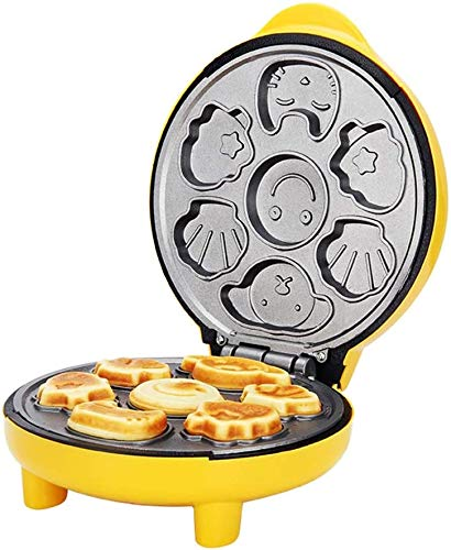 ZouYongKang Mini Waffle Maker Can Makes 7 Fun Different Shaped Pancakes Electric Non-Stick Waffler,for Individual Belgian Waffles, Taco Bowls, Chicken & Waffles & Other Sweet or Savory Treats