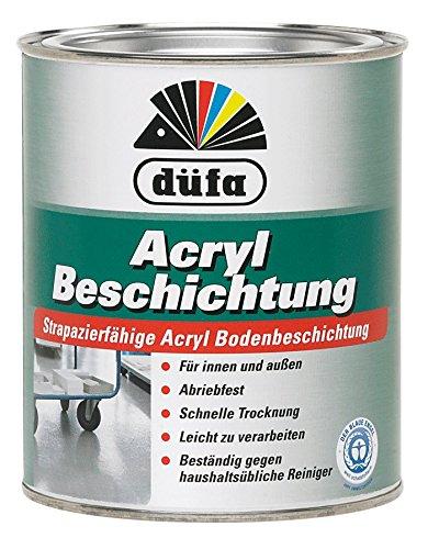 Düfa Acryl Beschichtung Bodenbeschichtung Bodenfarbe Seidenglänzend 0,75 ml , Farbe (RAL):RAL 7030 Steingrau