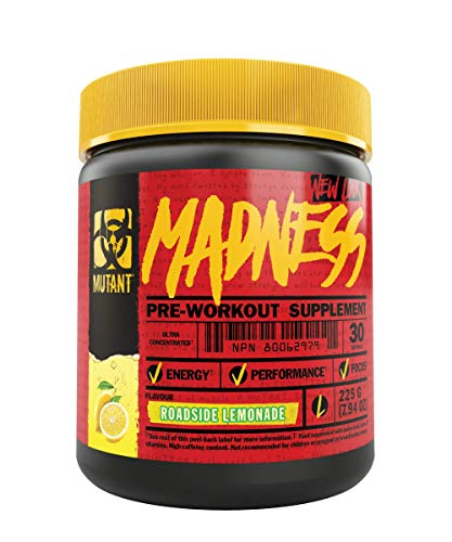MUTANT MADNESS - Pre-Workout Powder Takes Workouts to New Levels 225 g (.83...