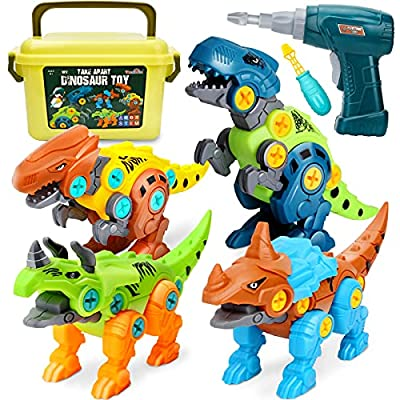 Dreamon Take Apart Dinosaur Toys for Kids 5-7 - Dino Building Toy Set for Boys and Girls with Electric Drill Storage Box - Construction Play Kit Stem Learning Gifts for Kids from Dreamon