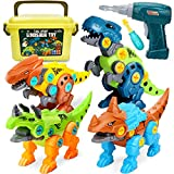 Dreamon Take Apart Dinosaur Toys for Kids with Storage Box Electric Drill, DIY Construction Build Set Educational...