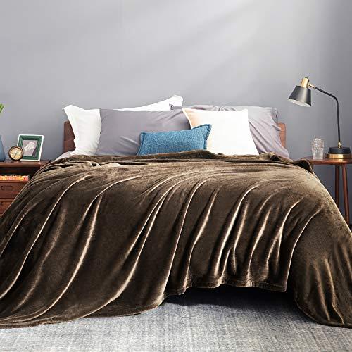 BEDSURE Decke Sofa Kuscheldecke braun - XXL Fleecedecke für Couch weich und warm, Wohndecke flauschig 220x240 cm als Sofadecke Couchdecke