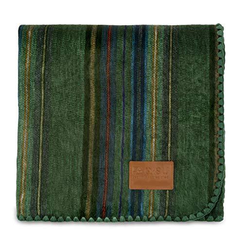 QISU Alpaca Wool Blanket Throw | Large, Beautiful, Warm, Variegated | 85 x...