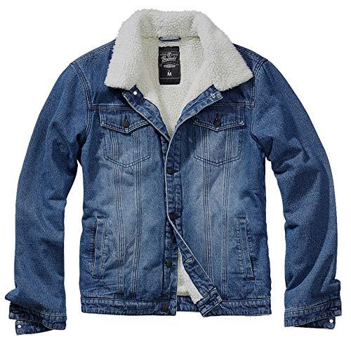 Brandit Sherpa Demin Jacket Denim Blue-Off White Gr. L